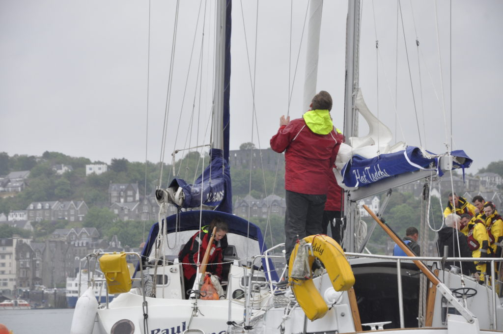 Getting ready to set sail at Oban's Push The Boat Out day.