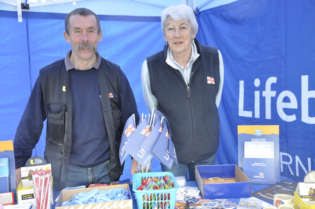 Phil Hamerton and Alison Rennie raising funds and water safety awareness at Oban Sailing Club's Push The Boat Out day.