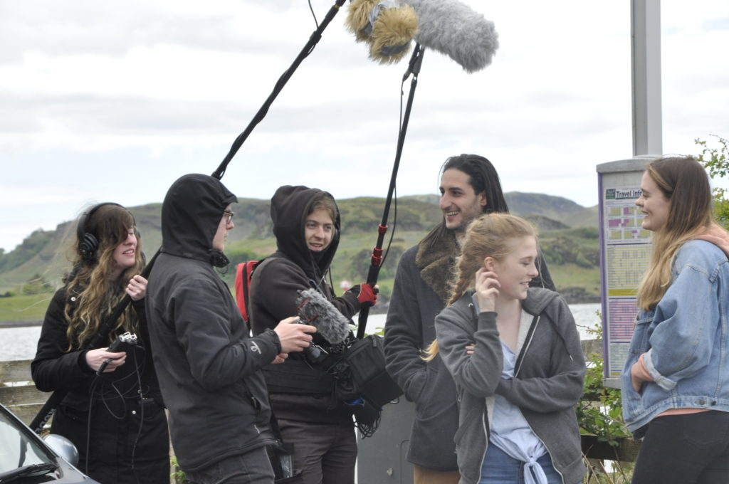 Cameras and sound during filming at Ganavan.