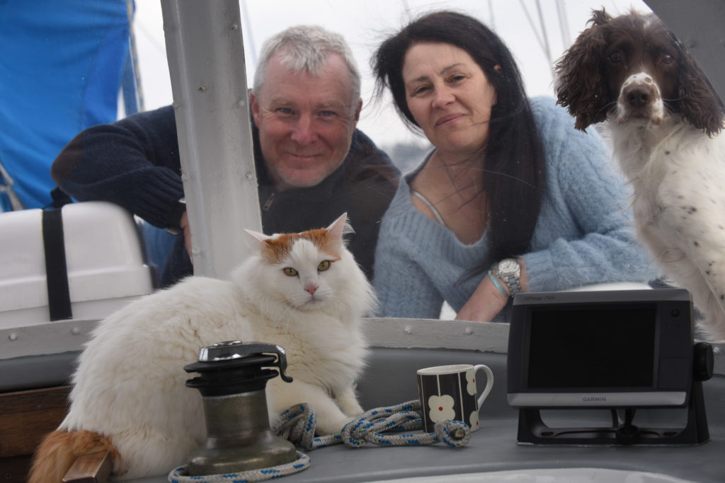 Andy and Berni Lockwood with Salty and Pippa.