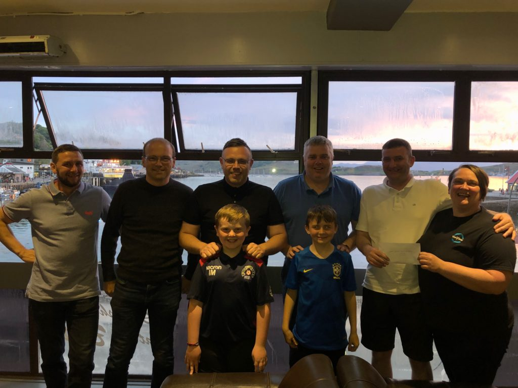 Oban Saints Youth FC received £375 thanks to a bingo fundraiser at The View. t23_Bingo02