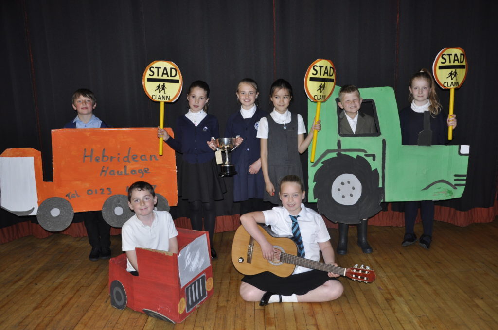 The trophy for the best action song with props for Primary 3-4 went to Sandbank Primary School, Dunoon.