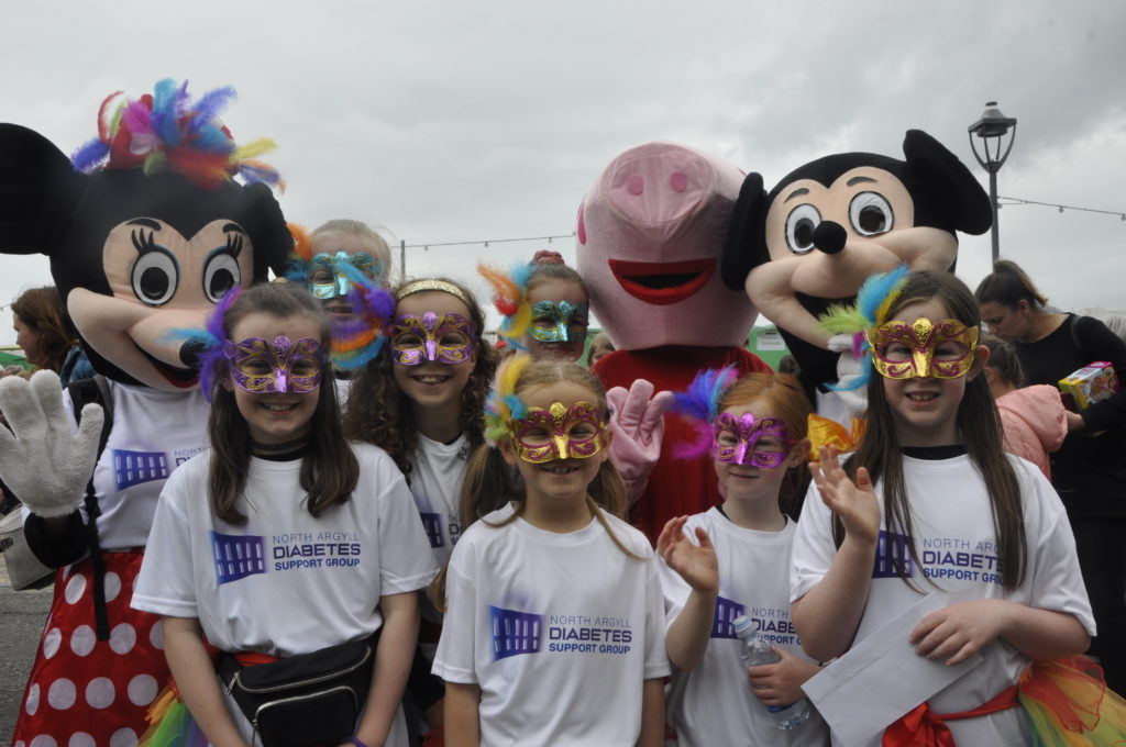 North Argyll Diabetes Support Group brought plenty of cheer to Saturday's parade.