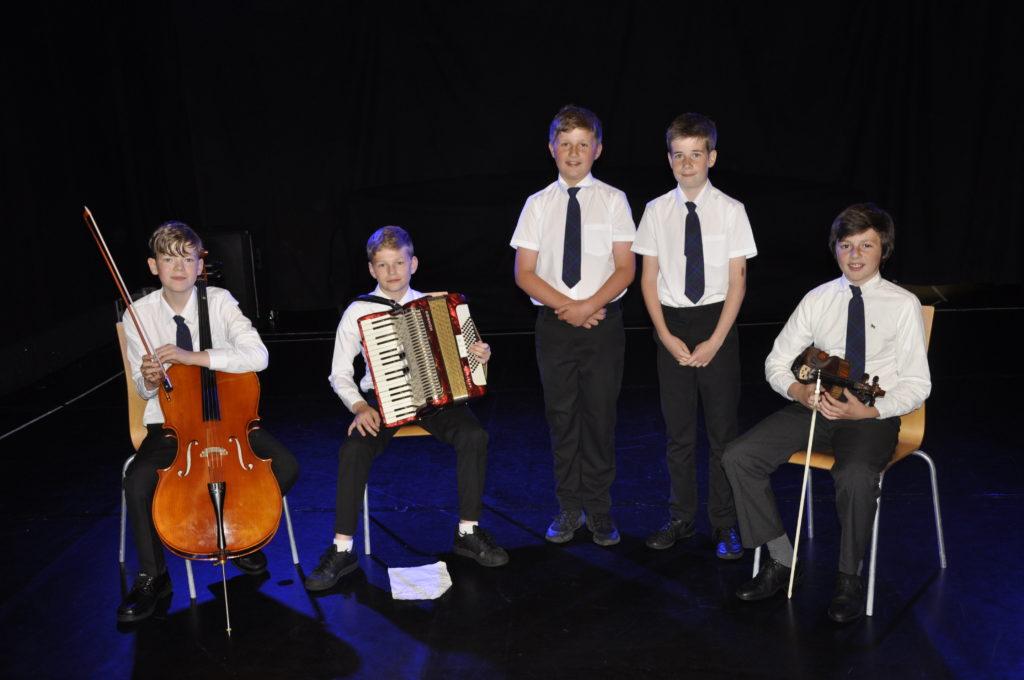 Bun-Sgoil Ghaidhlig Loch Abar entered the folk group section at the Corran Halls on Friday.