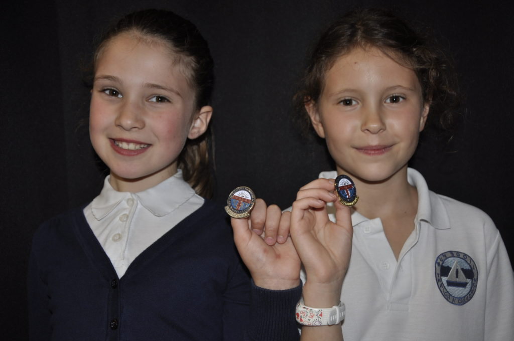 Dunoon's Sandbank primary pupils Mirrin McArthur, 9, and Zoe Cooper, also, 9 won silver and gold medals for fluent prescribed poetry.
