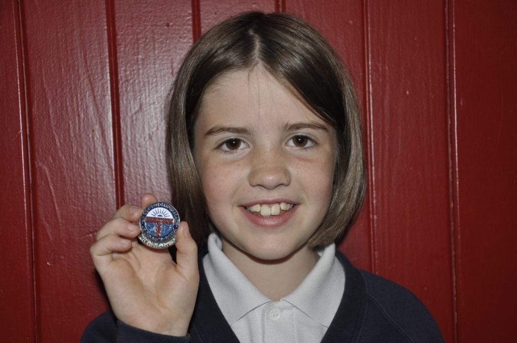 Sandbank Primary School's Alice McLennan, 9, won silver for the chanter.