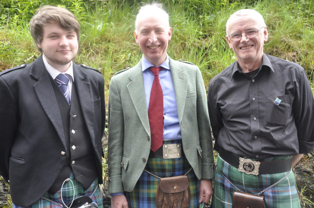 Singing in the men's classes were from the left Alasdair Maclean, Iain Gordon and Davy Macdonald.