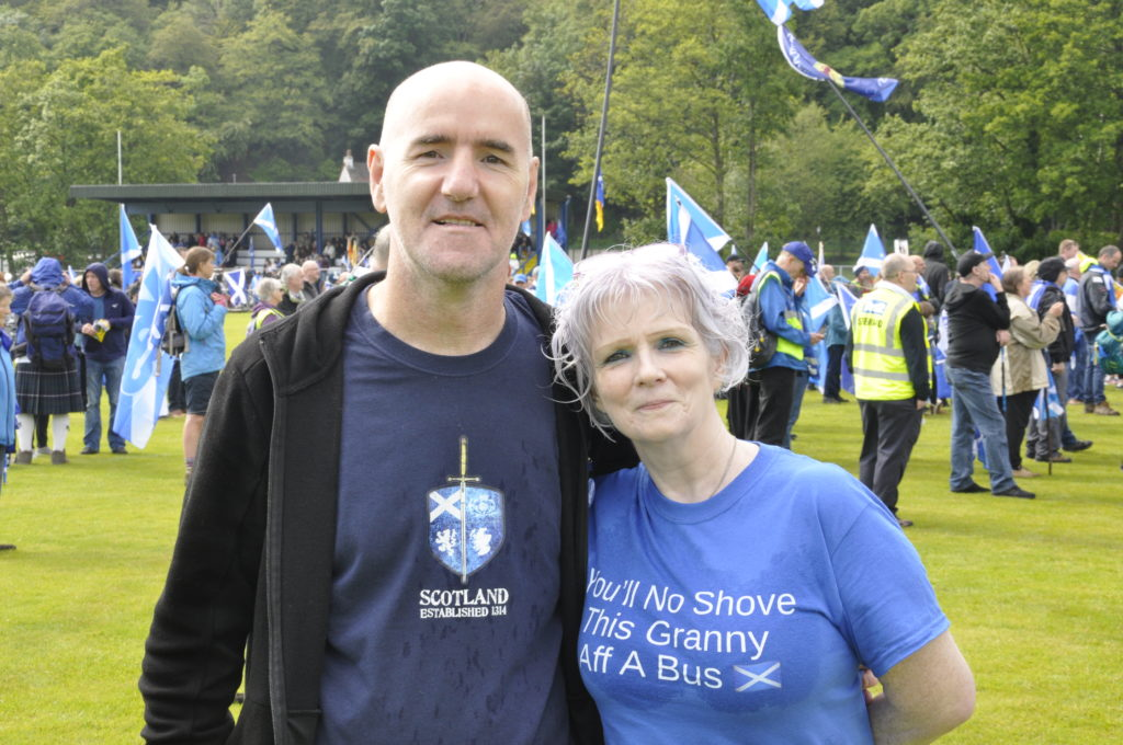 Tam and Fiona Ferris at the rally on Saturday. 17_T25_IndependenceMarch07