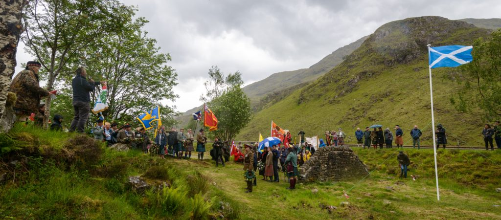The event marked the 300th anniversary of the battle.  NO F24 Glen Shiel Commemoration-128