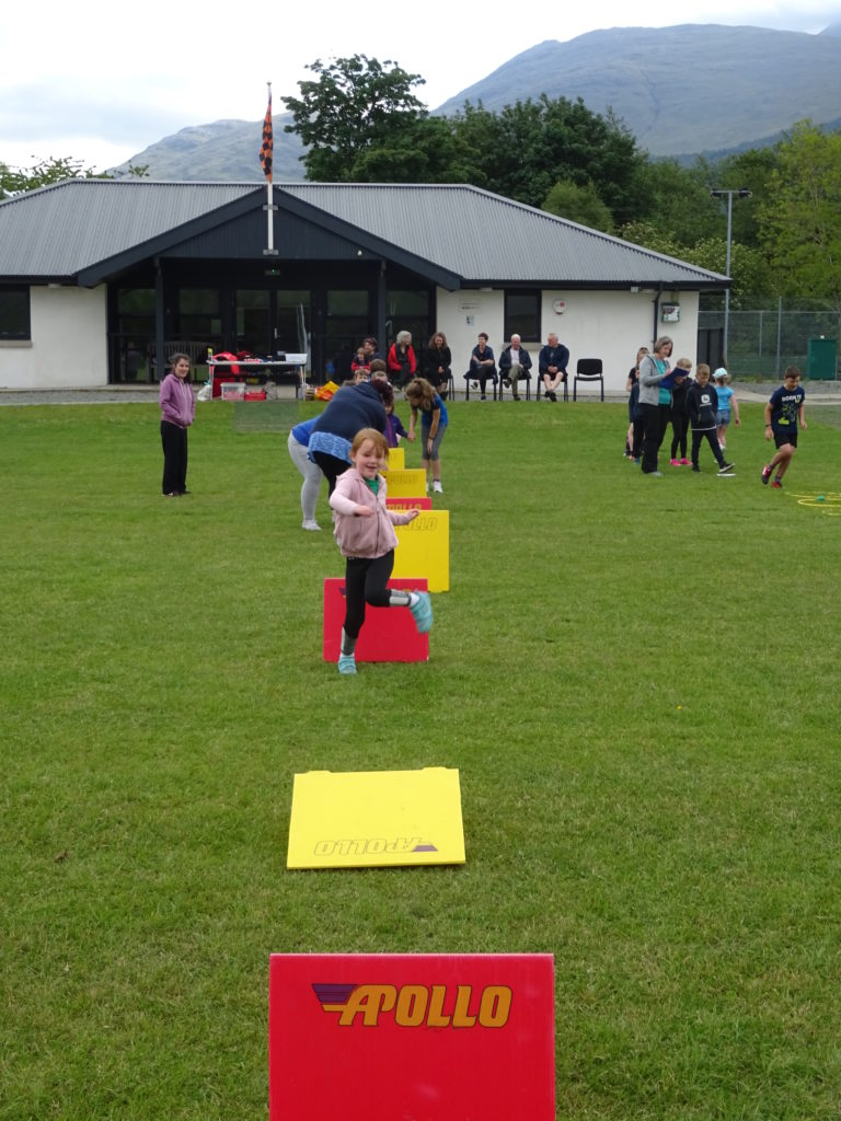 Hurdles proved to be no barrier for the pupils.