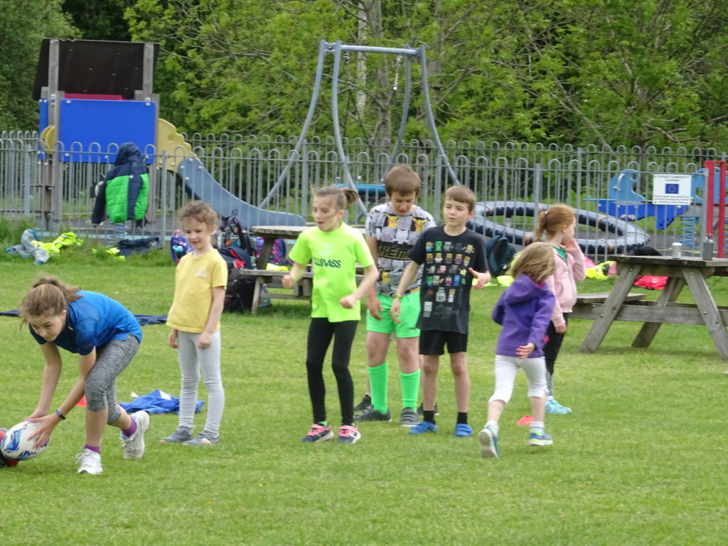 Team games such as rugby were played on Wednesday.