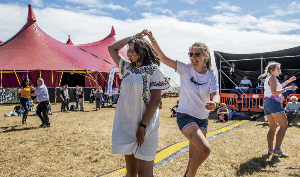 Dancing at TMF. Photograph: Alan Peebles