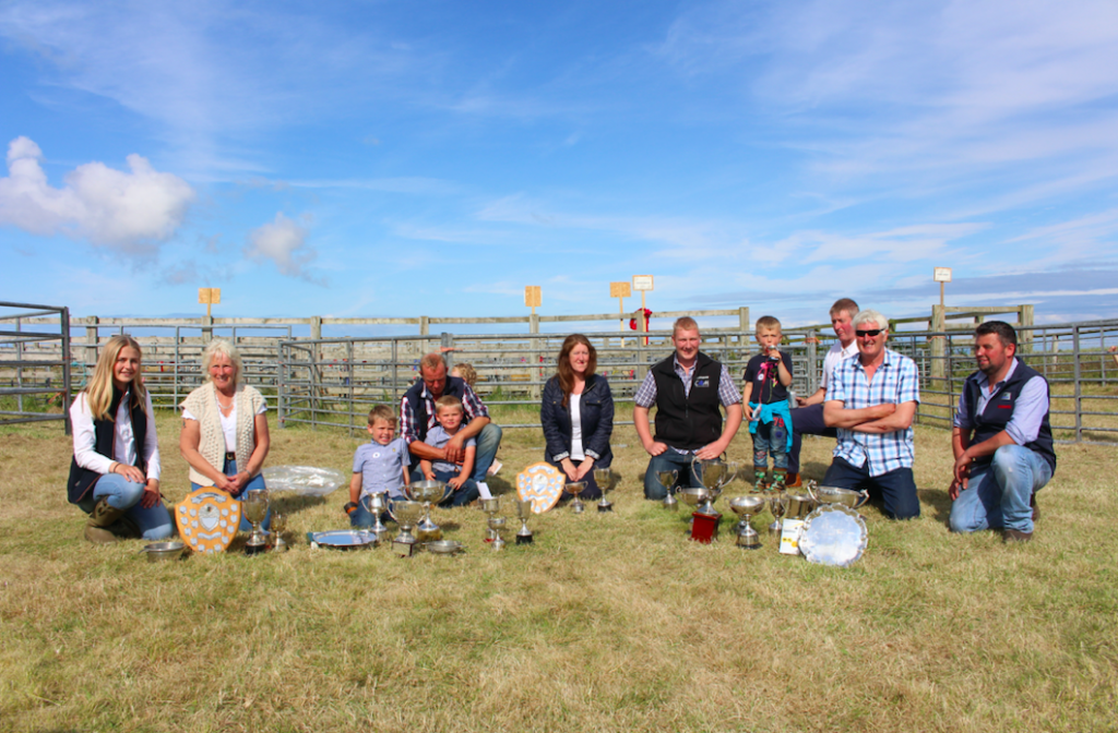 Cup and trophy winners at Tiree Show 2019. Photo by Anne Stanley.