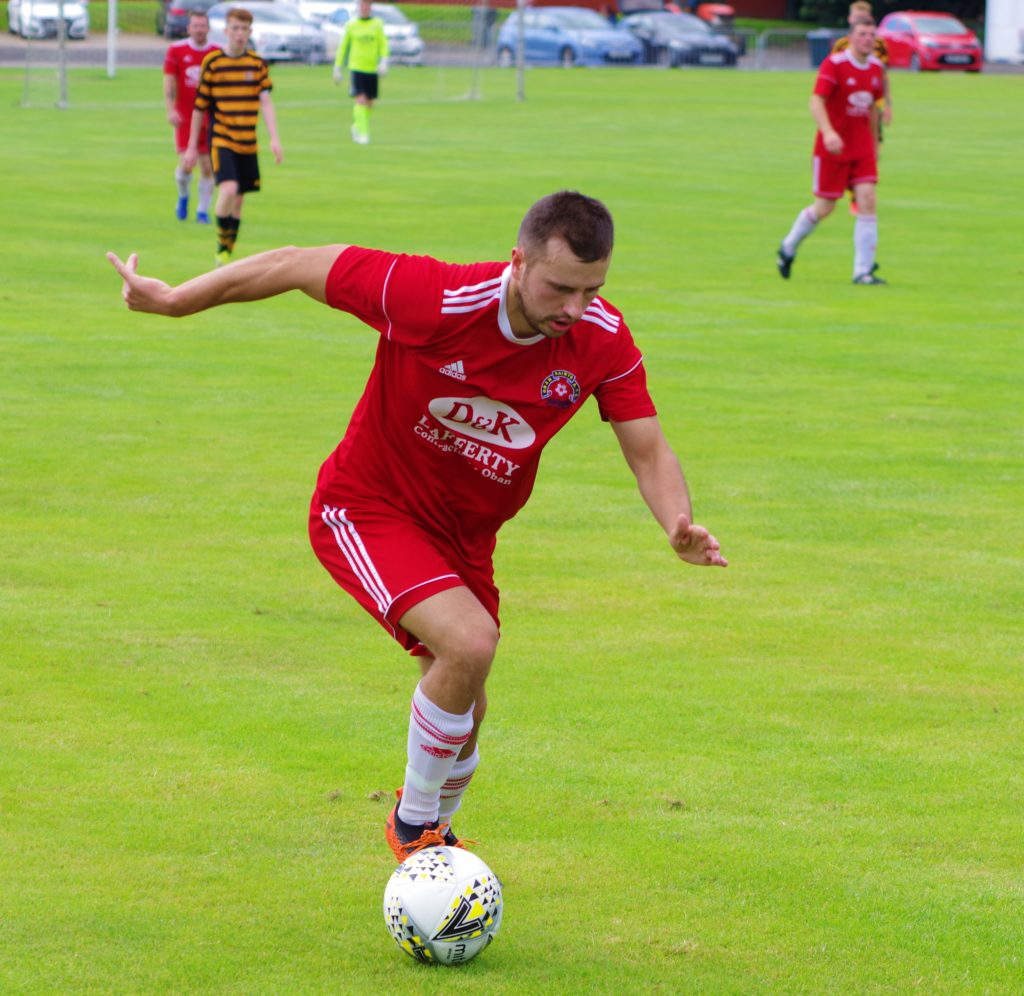James Ford turns on the style against Alloa. The Saints winger was impressive all day.