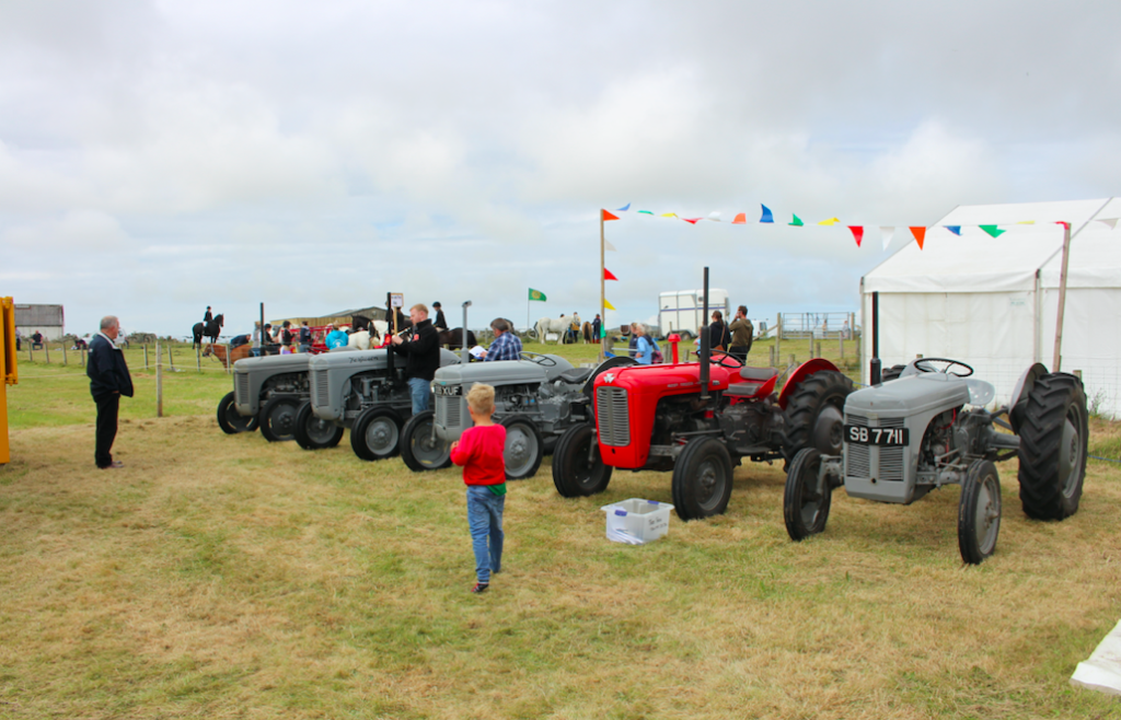 Ross MacLennan took home the MacPhail Shield for Champion Tractor at the show, with his pre-1960s machine. Photo by Anne Stanley.