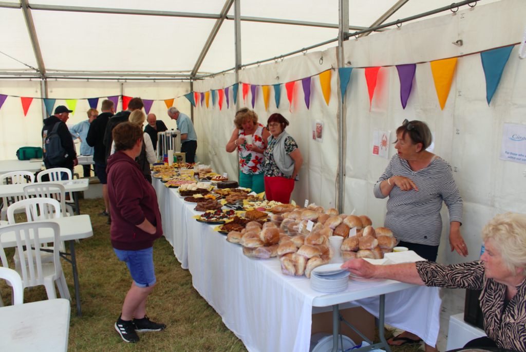 Curam Thiriodh raised more than £1,500 with their homebaking and rolls.