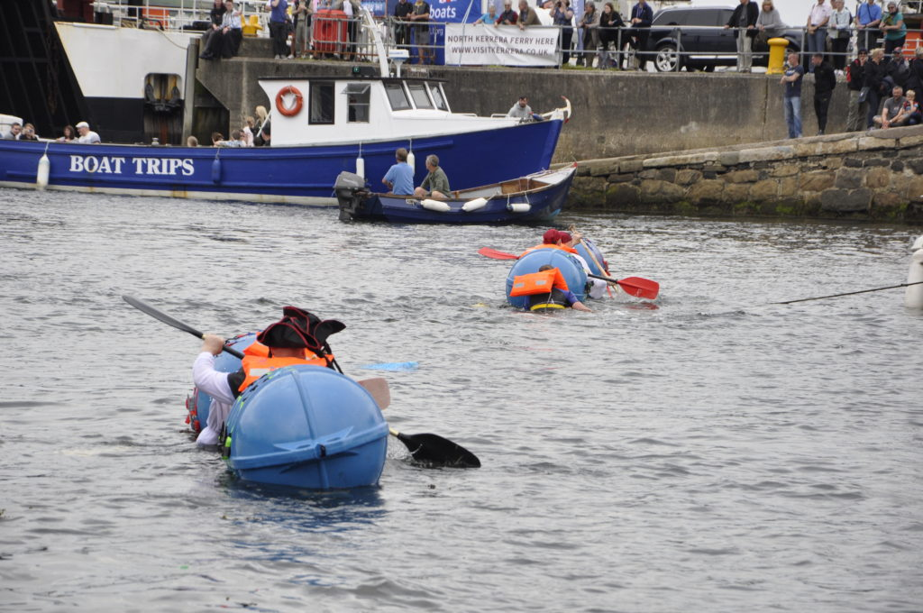 The Oban Bay Pirates set off in two after the raft fell apart. 15_T35_R aftRace07
