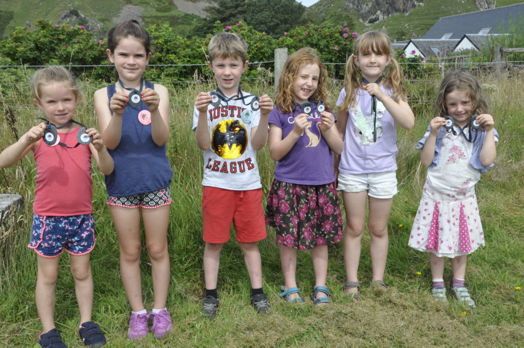 Medal winners at the children's races on Seil.