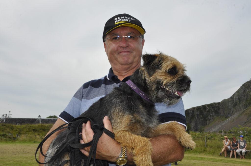 Graham Scott with border terrier Kelso, best dog in show.