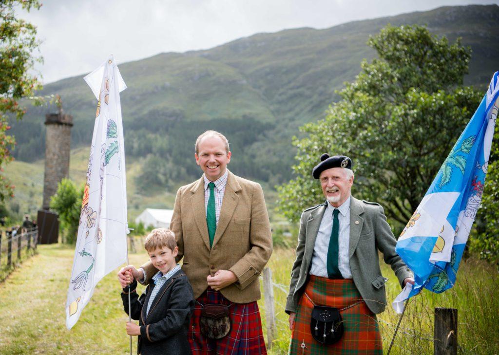 Highlands and Islands MSP Donald Cameron, centre, enjoys the Gathering.  NO F34 Donald Cameron MSP