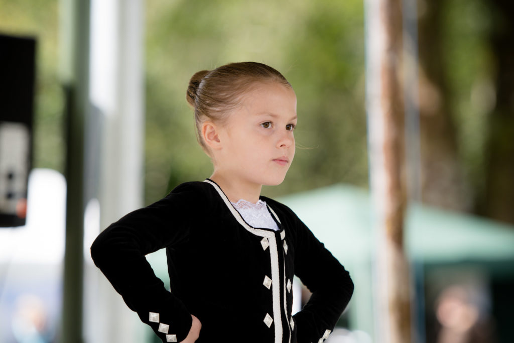 One young dancer deep in concentration.  NO F34 Glenfinnan games-05