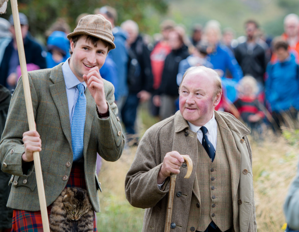 Depute Lord Lieutenant Iain Thornber was clearly enjoying himself at the Gathering.