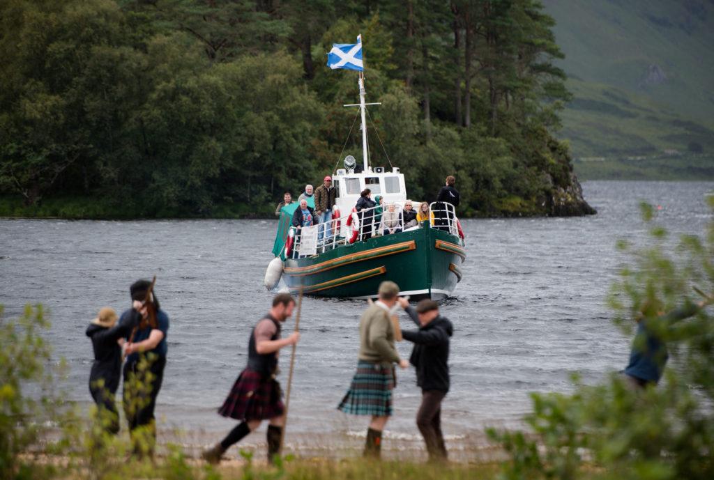 Passengers aboard Loch Shiel Highland Cruises' vessel, MV Sileas, got a good view.  NO F34 sileas