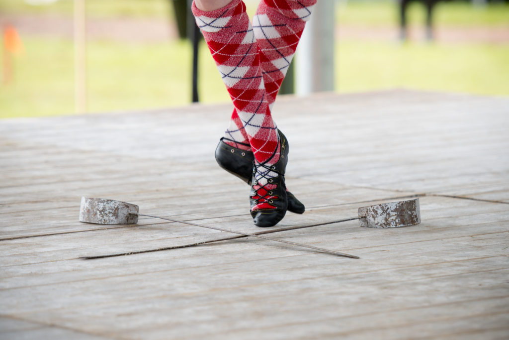 Highland dancing of an exceptional standard was on show.  NO F34 swords and feet