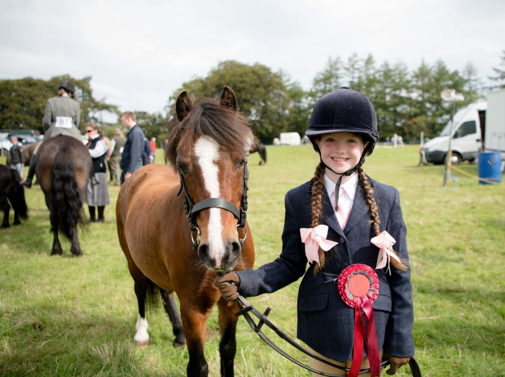 Sophie Annand, nine, received a first with her pony Lapstone Paisley.