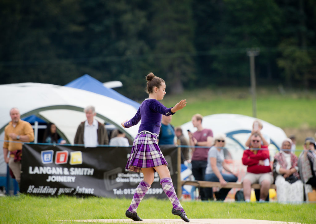 Highland dancers entertained the crowds.