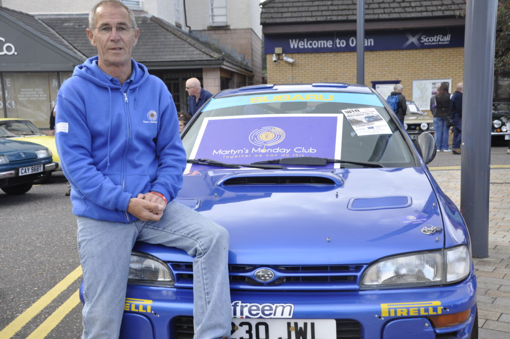 Robert Cruickshanks is raffling tickets for a rally car ride in aid of Martyn's Monday Club. 16_T38_motorfest04_cyclestunts