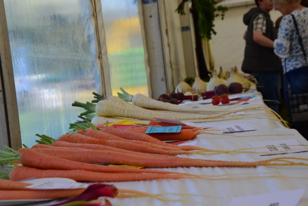 The garden produce entries were sizeable.