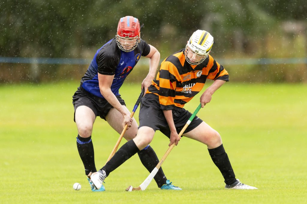 Ronan Sinclair, Lewis, battles for the ball with Boleskine's James Anderson. Photograph: Neil Paterson.