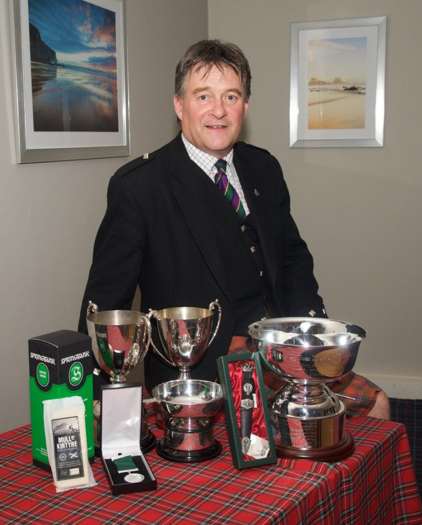 Overall winner Angus MacColl with his trophies. Photograph: Stuart Andrew.