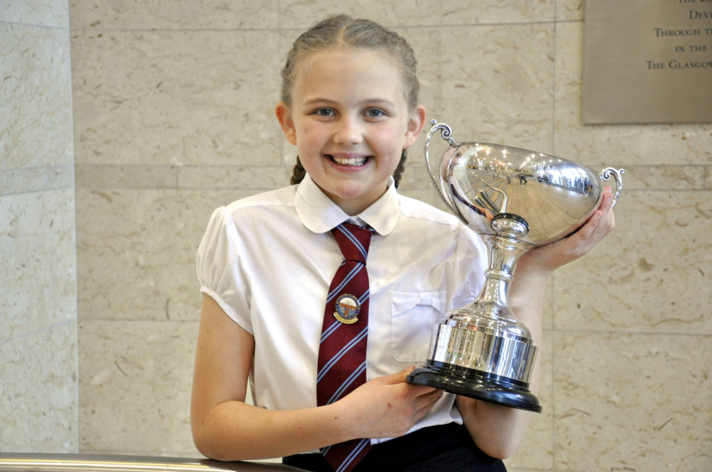 Lily McDowall, 9, from the Isle of Lewis, won the 9-10 learners poem competition. 17_DM_ModMonday04