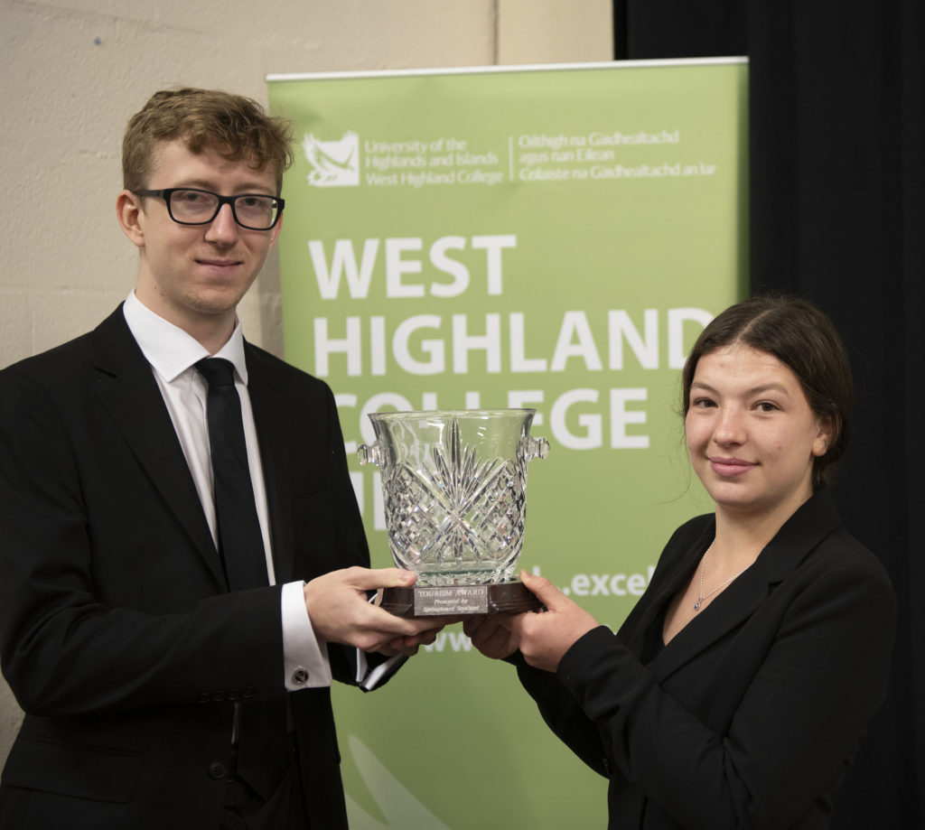Springboard Bowl: Benjamin Orr  - Achievement in Professional Cookery Presented on behalf of Springboard Scotland by Emma-Rose Milligan from Inverlochy Castle. Photograph: Iain Ferguson, alba.photos  NO F42 WHC SPRINGBOARD AWARD
