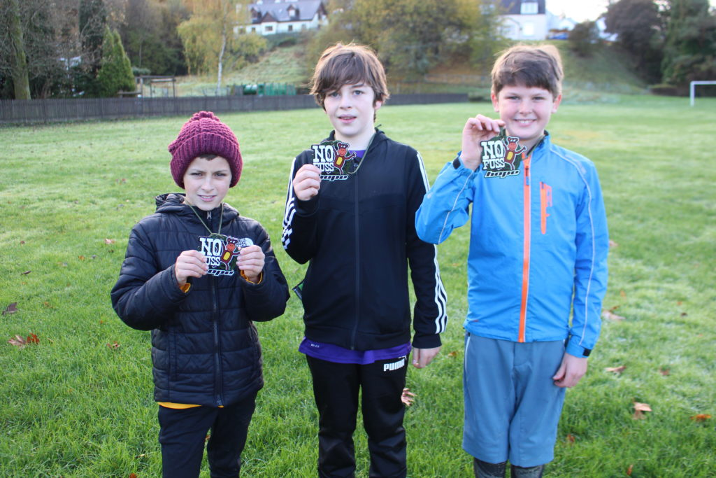 The bike podium places went to, from left, Lex Edgar, Aiden Cummings and Alan Cameron.  NO F45 Bike podium Lex Edgar,Aiden Cummings, Alan Cameron