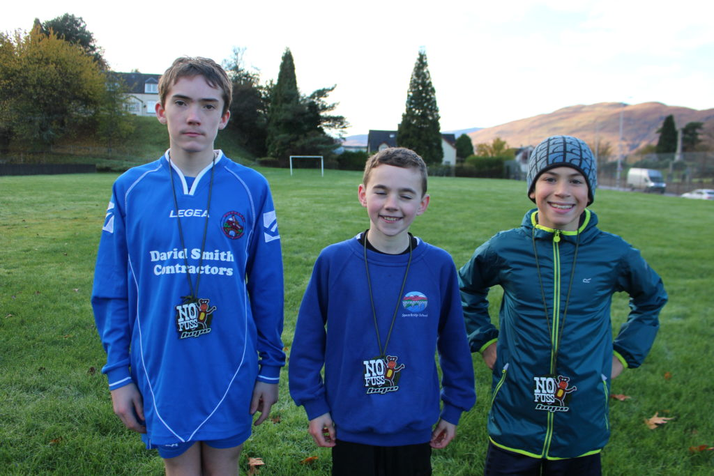 The run podium places went to, from left, Dharas Barreno, Ross Loughray and  Sandy Halewood.  NO F45 Run podium Dharas Barreno, Ross Loughray, Sandy Halewood