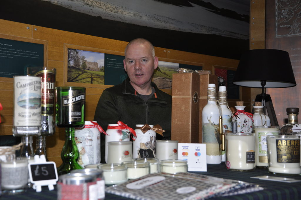 Angus Watson, Heart of Highland Spirit, offered some warmth at the Distillery.