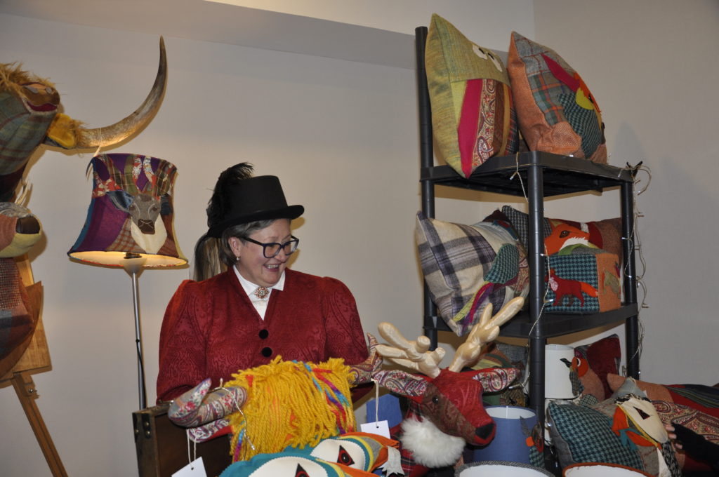Catherine Bloy, Highland Homewears, got into charachter for the Victorian Market in the Perle Hotel.