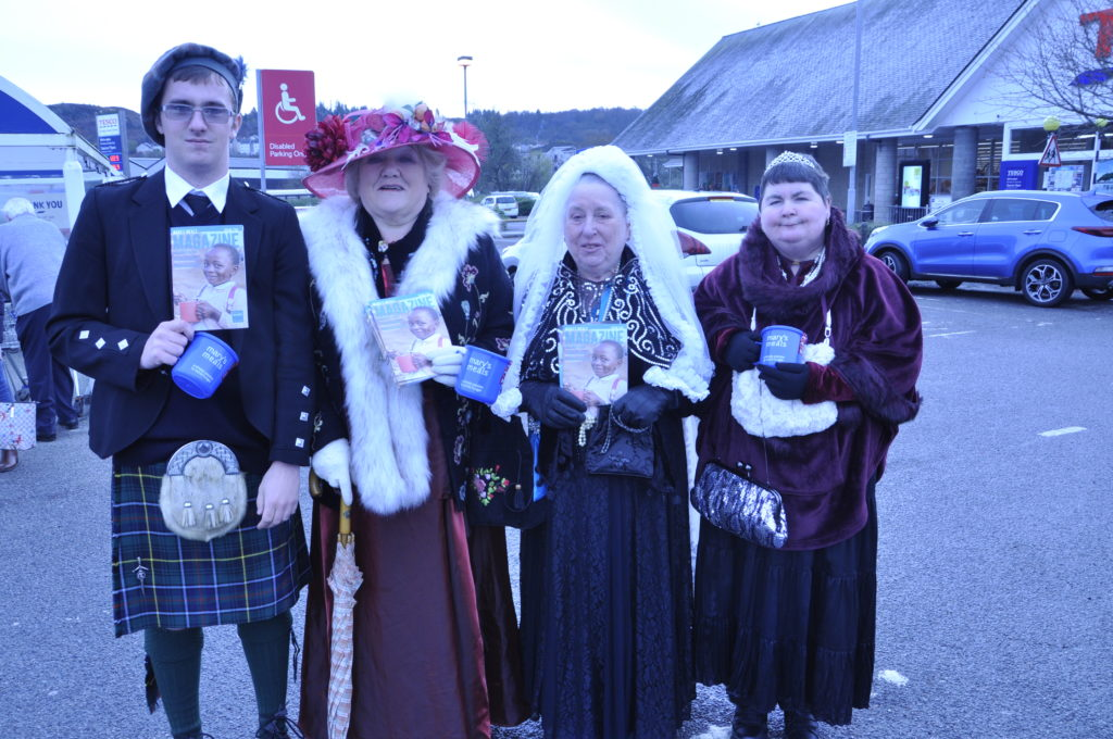 Queen Victoria and her entourage had a busy weekend spreading the word for Mary's Meals.