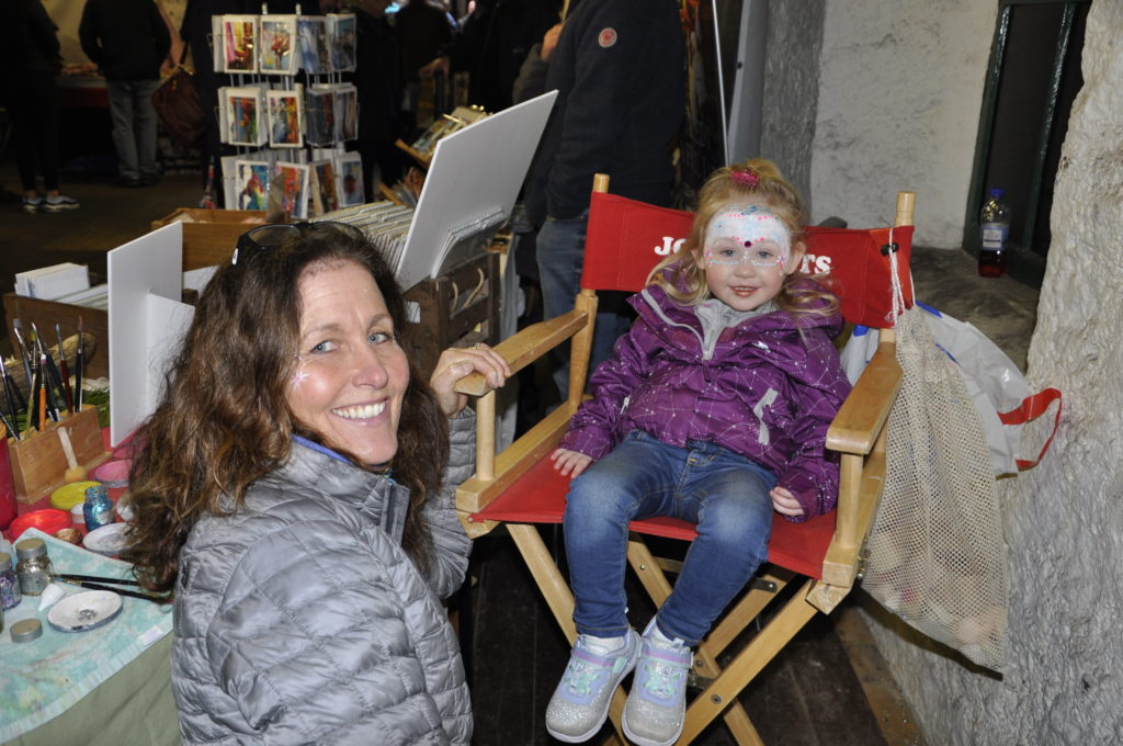 McKenna MacDonald gets into the festive spirit with some help from Jo MacLean (Jo Jo Arts).