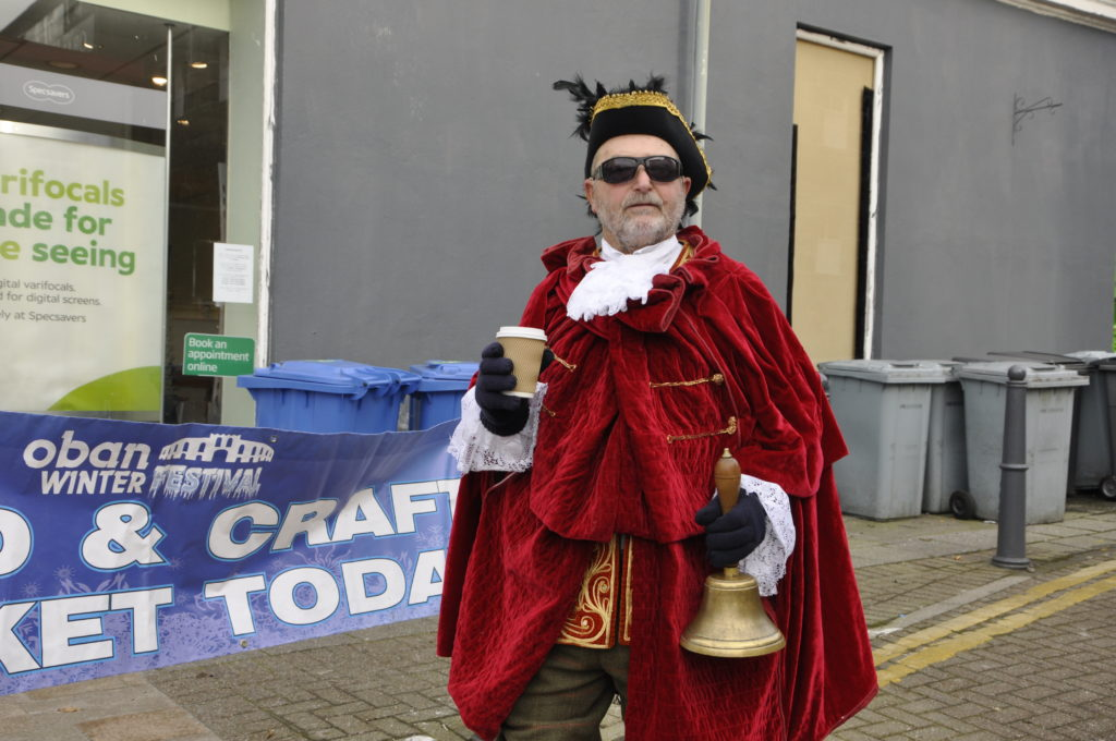 Stuart Smith donned his town crier robes for the Winter Festival.
