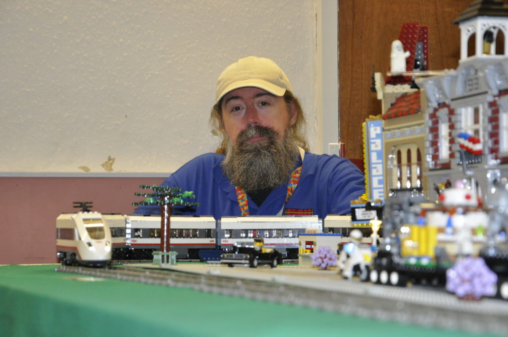 Derek Cockerell from Livingston was one of many Lego enthusiasts to display their creations at Oban Winter Bricks.