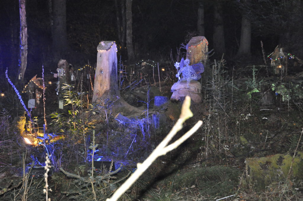 Youngsters were enchanted by the fairy houses in the Winter Woods.