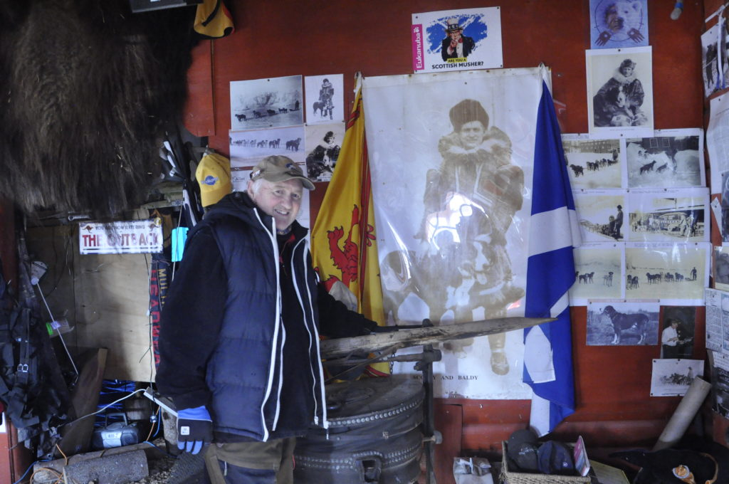 Amongst his mushing memorabilia Alan has a whole corner dedicated to fellow Scot Alexander 'Scotty' Allan who's racing exploits inspired Jack London for the main character of Call of the Wild.