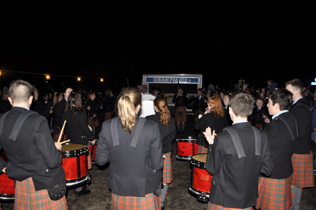 The event raised money for Oban High School Pipe Band. 17_t45_DunbegBonfire01