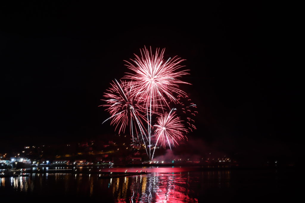 A spectacular shot from the Oban fireworks display.