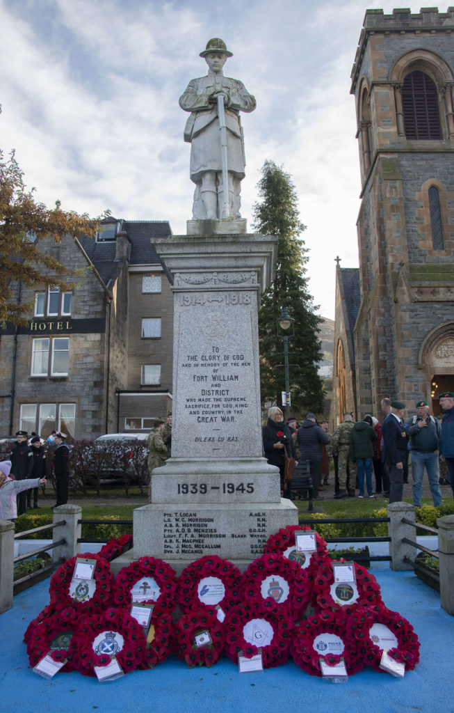 Fort William War memorial. Photograph:  Iain Ferguson, alba.photos  NO F46 Fort Memorial 14