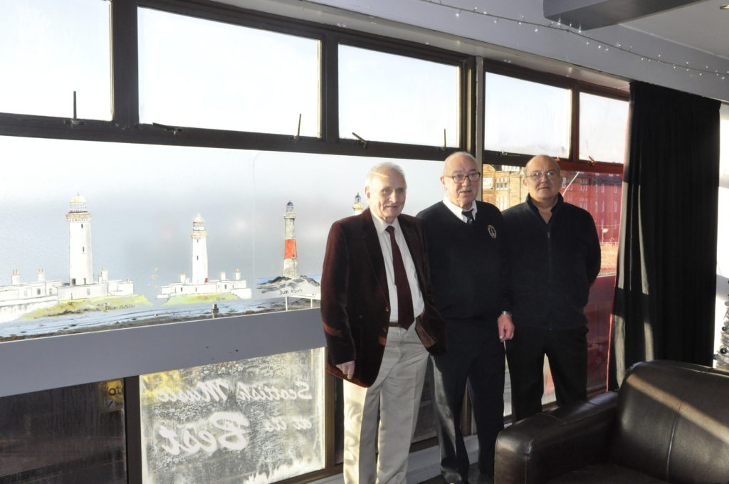 Former lighthouse keepers James Morrice, Ian Duff and Ron Ireland were amongst the VIPs attending the Local Heroes event in the View.